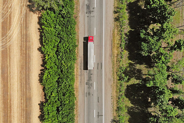 driver-on-the-road-aerial-view